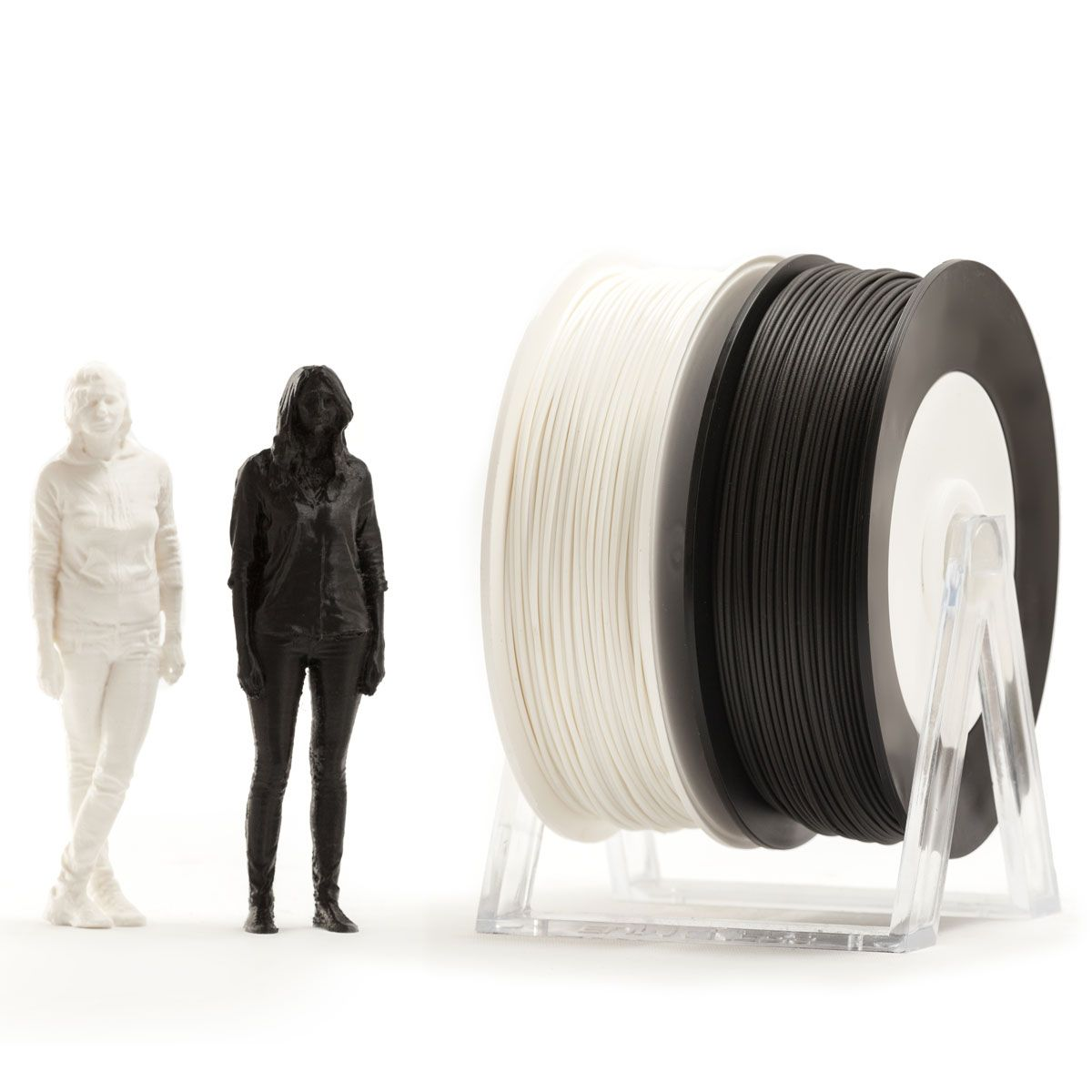 Pair of PLA spools: Black and White