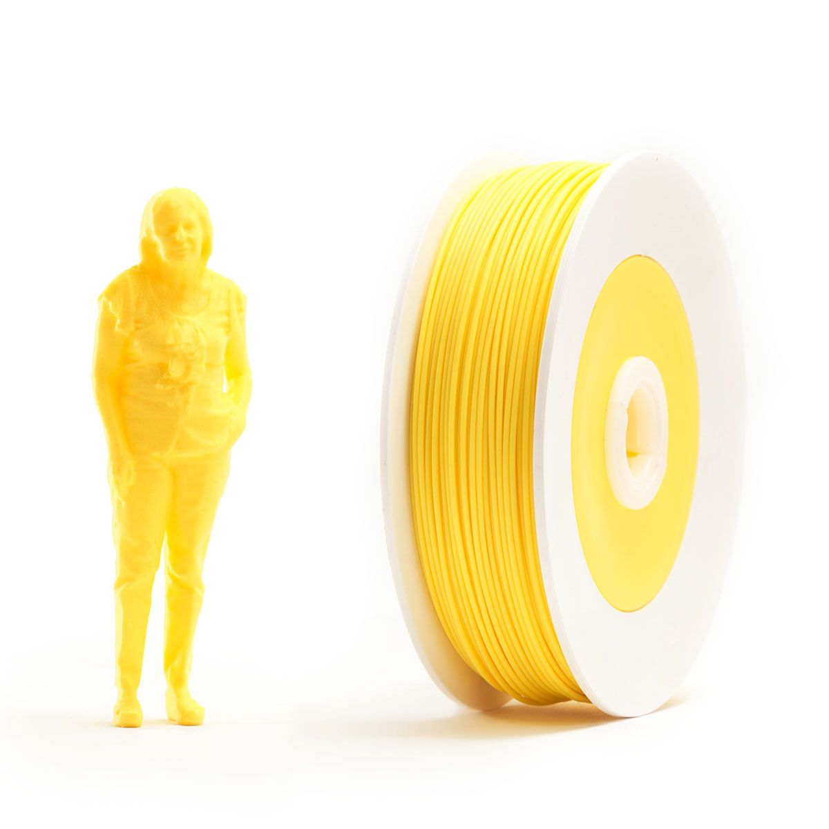 Pair of PLA spools: Yellow and Green