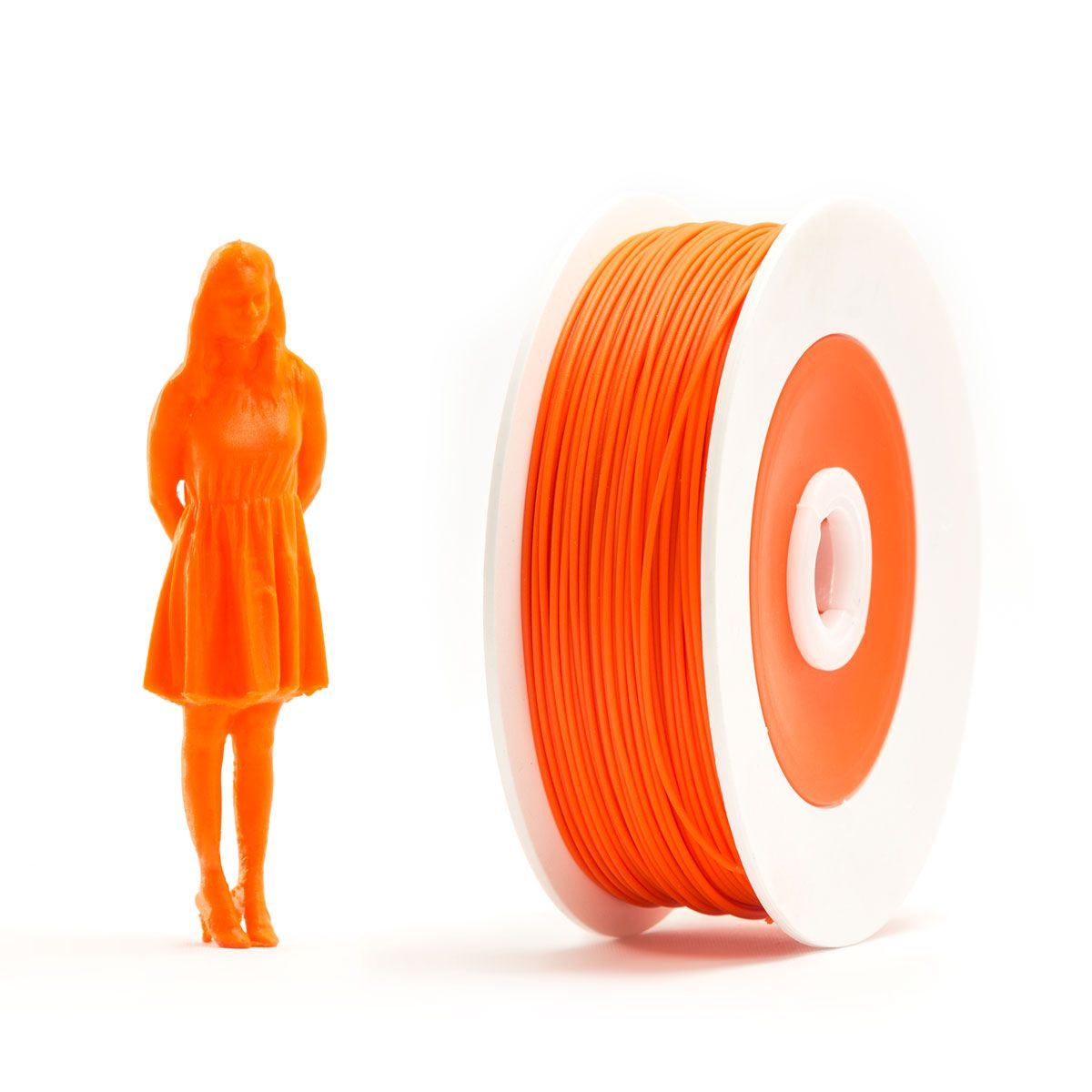Pair of PLA spools: Orange and Grey