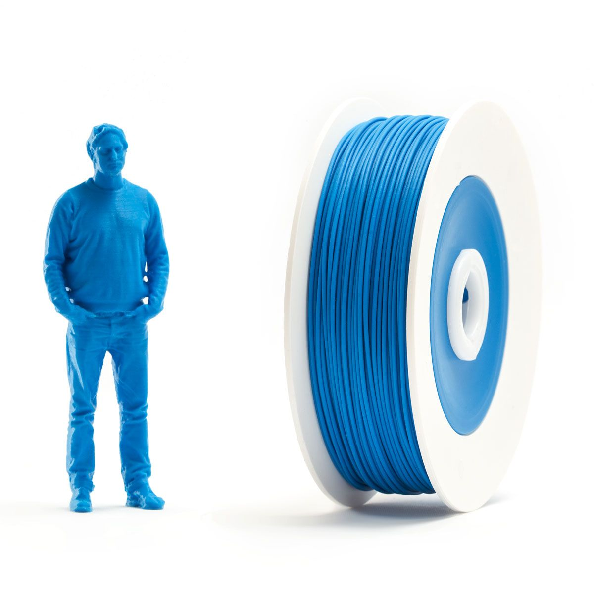 Pair of PLA spools: Red and Blue