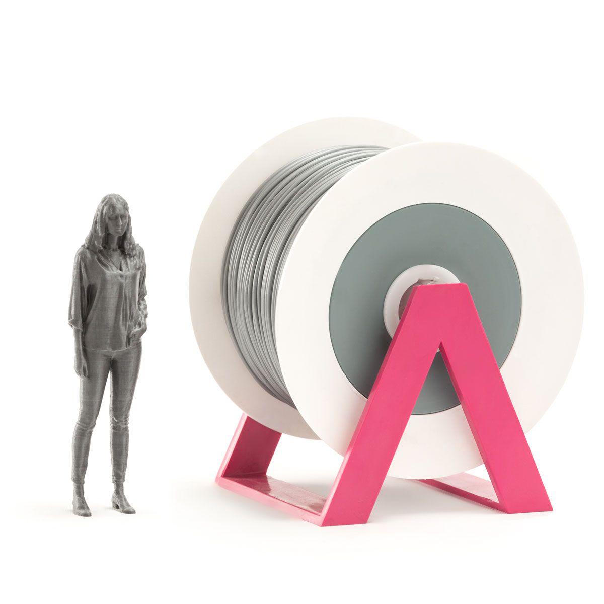 PLA Filament   Color: Silver Gray