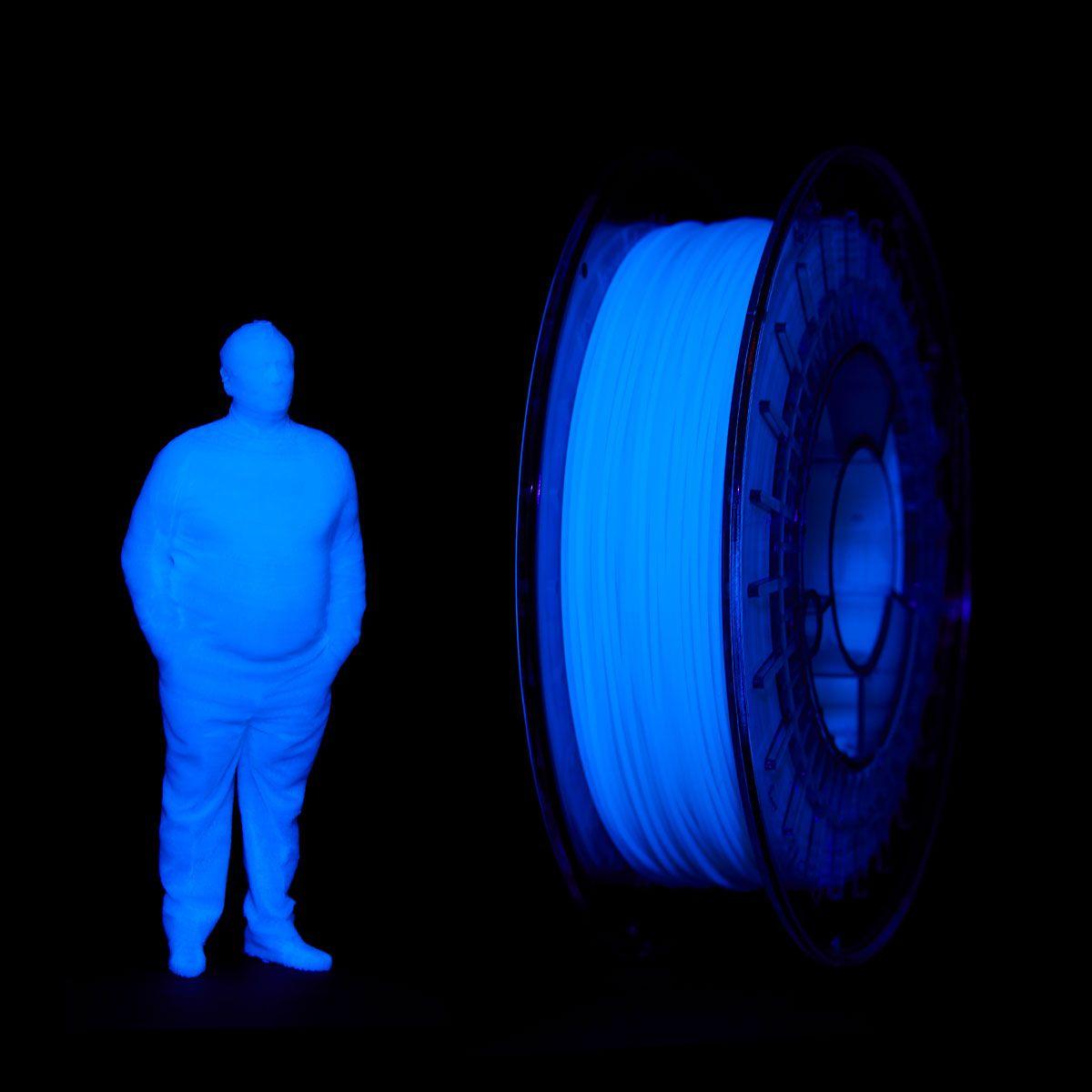 PLA UV Reactive Filament | Color: Transparent